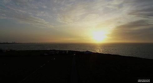 Sunset sur le rivage charentais maritime