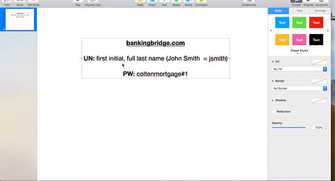 Banking Bridge Training Overview Webinar | Flyer Library