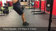 legs- pistol squat