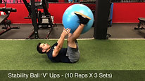 abs - stability ball v ups