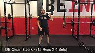 legs & shoulders - DB clean and jerk