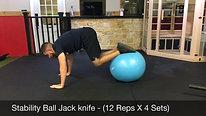 abs - stability ball jackknifes