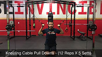 shoulders - kneeling pulldowns