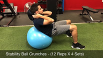 abs - stability ball crunches