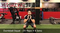 legs- dumbbell squat