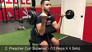 biceps - preacher curl superset