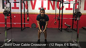 chest - bent over crossover