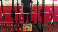 legs & back DEADLIFT