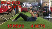 abs - WEIGHTED CRUNCHES