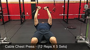 chest - cable chest press