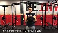 shoulders - front plate raise