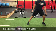 legs- side lunges