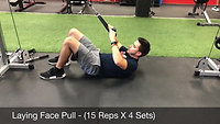 back - laying face pull