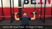 chest - incline DB chest press