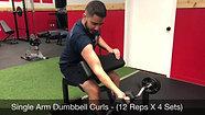 biceps - single arm preacher curls